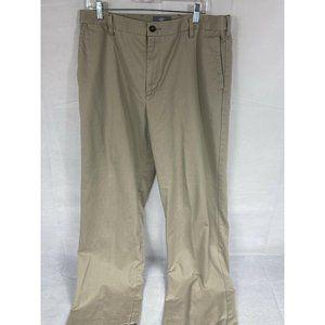 Dockers Men's 36/34 Khaki Flat Front Pants EUC